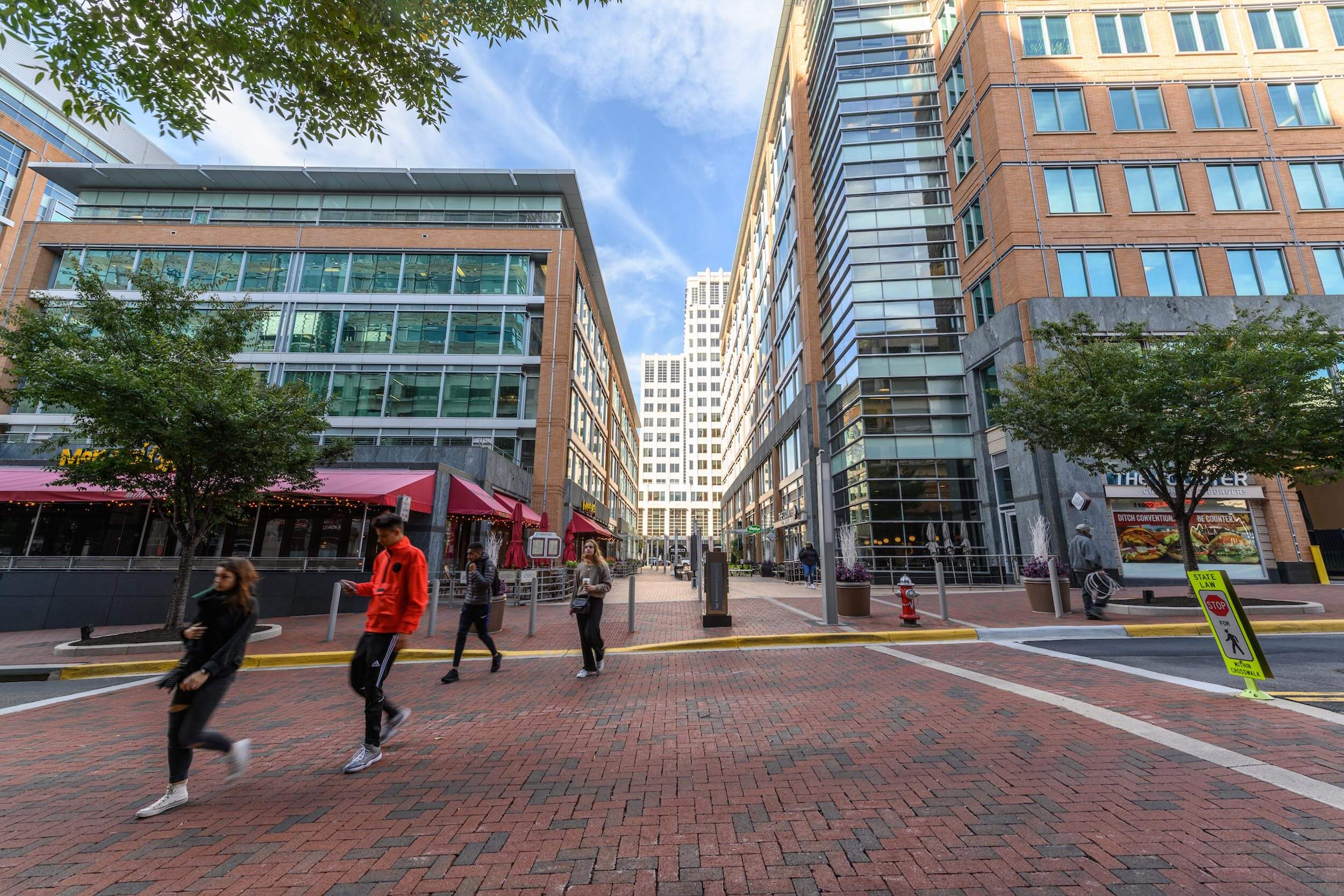 Commercial buildings at Reston Town Center in Reston, Virginia